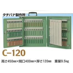 (送料無料)タチバナ製作所 キーボックス Cタイプ携帯・壁掛兼用 グリーン 120本掛 C-120|iwauchi-kanamonoten