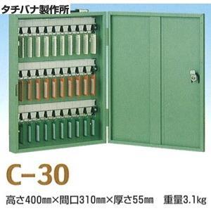 タチバナ製作所 キーボックス Cタイプ携帯・壁掛兼用 グリーン 30本掛 C-30|iwauchi-kanamonoten