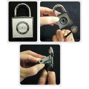 (メール便 可) 小庄金物 SKC メカトロック ME21 マグネット式 南京錠 クローバー型 本体幅:43mm (1個)|iwauchi-kanamonoten