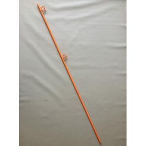 (送料無料) ロープスティック ダブル 16mm × 1500mm 黄 (10本入)|iwauchi-kanamonoten
