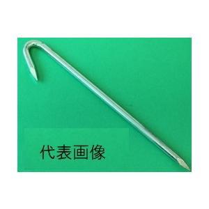 鉄 ユニクロメッキ J型 ロープ止め釘 6mm × 230mm ( 50本入 )|iwauchi-kanamonoten