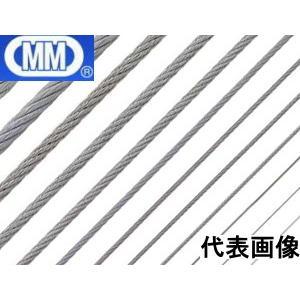 (メール便 可)水本機械製作所 ステンレスワイヤーロープ 5mm W7-5(個数1=1m)