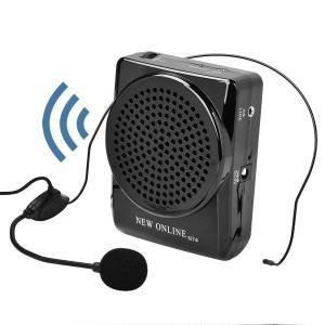 拡声器 ポータブル 小型 ハンズフリー マイク付 スピーカー 音楽再生 イベント 講演 説明会