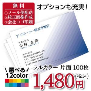 名刺印刷 100枚 名刺簡単作成【選べる12色】校正無料 ゆうパケット送料無料 b030