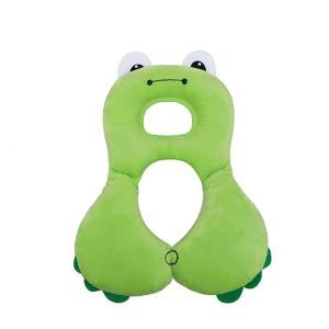 ベビーヘッドレスト&ネックサポート枕、幼児快適なベビーカーヘッドサポート旅行カーシート枕(グリーン蛙...