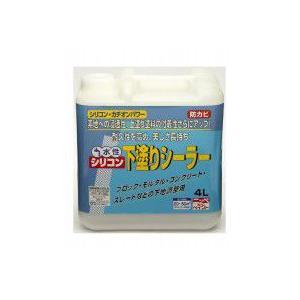 ニッペ ホームペイント 水性シリコン下塗りシーラー 透明 4L