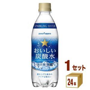 ポッカサッポロ おいしい炭酸水 ペットボトル500ml(24...