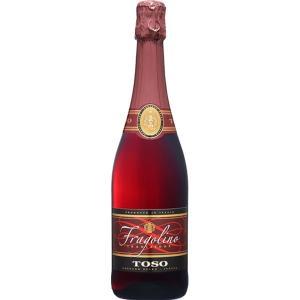いちごの味と香りがするイタリア産の赤の甘口スパークリングワインです。食前酒やデザートワインとして良く...