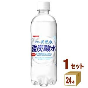 サンガリア 伊賀の天然水 強炭酸水ペット 500ml 24本|イズミックワールド