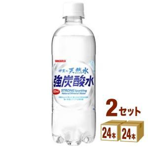 サンガリア 伊賀の天然水 強炭酸水 ペット500ml 48本(24本入×2ケース)