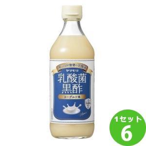 ヤマモリ 乳酸菌黒酢 ヨーグルト味  500ml×6本 イズミックワールド