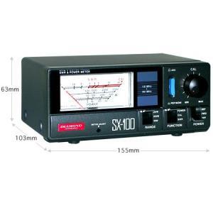 SX100 第一電波工業(ダイヤモンド) 1.6〜60MHz 過形SWR・パワー計 SX-100|izu-tyokkura