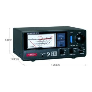 SX600 第一電波工業(ダイヤモンド) 1.8〜525MHz 2センサー内蔵 通過形SWR・パワー計 SX-600|izu-tyokkura