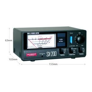 SX200 第一電波工業(ダイヤモンド) 1.8〜200MHz 通過形SWR・パワー計 SX-200|izu-tyokkura