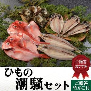 ギフト  干物セット 潮騒セット 鯵 金目鯛 かます サザエ 詰合せ ギフト 国内産