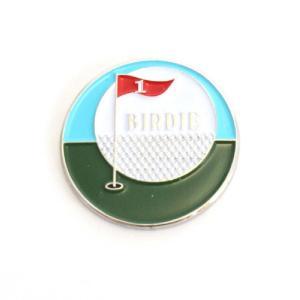 ゴルフボールマーカー フラッグ バーディー ゴルフボール型ハットクリップ付|izumigolf