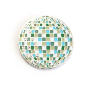 ゴルフボールマーカー ミラーボール / ディスコ ゴルフボール型ハットクリップ付|izumigolf