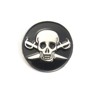 ゴルフボールマーカー 海賊 / パイレーツ Pirate スカル ゴルフボール型ハットクリップ付|izumigolf
