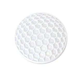 ゴルフボールマーカー ホワイトゴルフボール ゴルフボール型ハットクリップ付|izumigolf