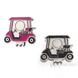 ゴルフカート型 ゴルフボールマーカークリップ 台座のみ ピンク・ブラック 強力マグネット izumigolf