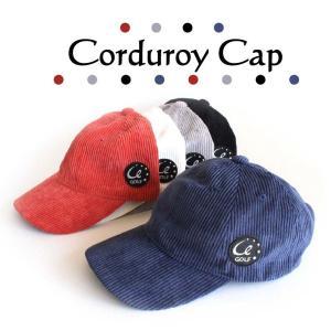 コーデュロイキャップ ゴルフ帽 メンズ・レディース ネイビー・オレンジ・ホワイト・グレー・ブラック|izumigolf