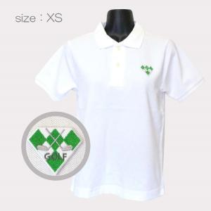 ゴルフウエア 綿100% 厚手 半袖ポロシャツ 刺繍ワッペン グリーン  シャツカラー:ホワイト・ブラック サイズ:XS〜XXL メンズ・レディース ゴルフ ラウンド|izumigolf