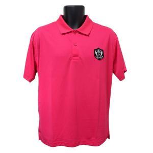 ライトドライポロシャツ 半袖 吸汗&速乾  ゴルフエンブレム ピンク サイズXL ゴルフ ラウンド|izumigolf