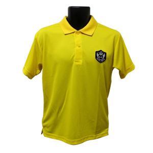 ライトドライポロシャツ 半袖 吸汗&速乾  ゴルフエンブレム イエロー サイズM ゴルフ ラウンド|izumigolf