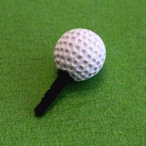 イヤホンジャック アクセサリー ゴルフボール型 携帯電話・音楽プレイヤー・ゲーム機器に|izumigolf