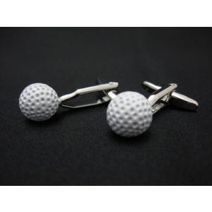 【カフス/カフリンクス/カフスボタン】ゴルフボールカフス ホワイト 専用ギフトケース付|izumigolf