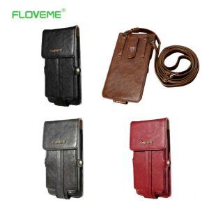 iphone7 PLUS など各種スマートフォン収納 FLOVEME PUレザーベルトポーチ / ケース 全4色|izumigolf