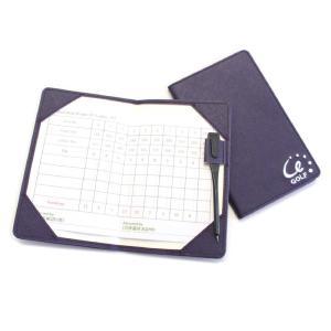 ゴルフラウンドで記入するスコアカードをポケット等に収納して携帯できます。  お手入れし易いサフィアー...