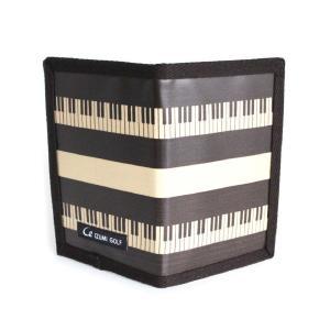 ゴルフ スコアカードホルダー ピアノ 鍵盤 Piano ラミネート加工 内側:PUレザー 日本製 izumigolf