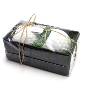 ゴルフボールマグカップ ペアギフトセット  マグカップ2個&BOX 花瓶・インテリア雑貨|izumigolf