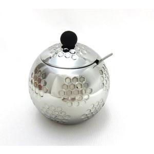 【ステンレス ゴルフボール型シュガーポット】 Sugar Pot スプーン付|izumigolf