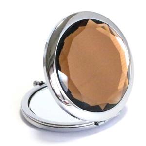 コンパクトミラー コーヒーブラウン Coffee brown ジュエリーミラー 手鏡|izumigolf