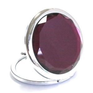 コンパクトミラー パープル purple ジュエリーミラー 手鏡|izumigolf