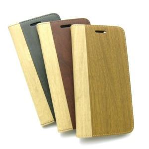 iphone6 PLUS 用 木目調PUレザーカバー / ケース 全3色|izumigolf