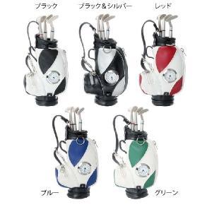 ゴルフバッグ型ペンケース 全5色 時計付 クラブ型ボールペン3色入り |izumigolf