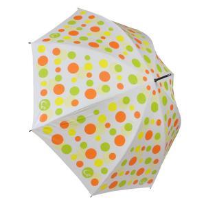 ゴルフ傘 レディース 耐風 オレンジドット柄 UV加工 晴雨兼用 親骨65cm ゴルフ ラウンド ギフトラッピング無料|izumigolf