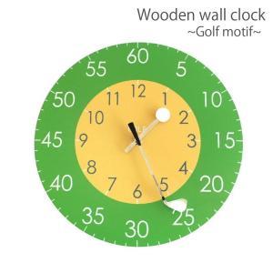 ゴルフ 掛け時計 ウォールクロック 木製 ゴルフクラブ&ゴルフボールの時計針 直径30cm スイープムーブメント 静音 インテリア ギフト ゴルフコンペ|izumigolf
