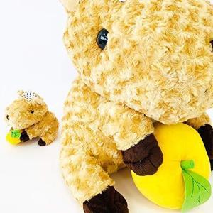 BIGぬいぐるみ LOVE湯カピバラ(L)高さ40cm | 元祖カピバラの露天風呂 手ぬぐいと柚 ビックサイズ 送料無料|izushabotenhonpo