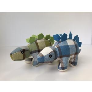 ペットおもちゃ ぬいぐるみ 恐竜(チェック柄) |  犬おもちゃ 噛む 引っ張る 遊び 恐竜 運動不足 丈夫 小型犬 中型犬 大型犬|izushabotenhonpo