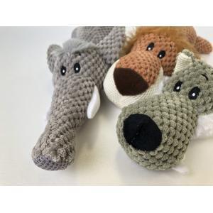 ペットおもちゃ ぬいぐるみ アニマル(ゾウ、ライオン、オオカミ) | 犬おもちゃ 噛む 引っ張る 遊び 恐竜 運動不足 丈夫 小型犬 中型犬 大型犬|izushabotenhonpo