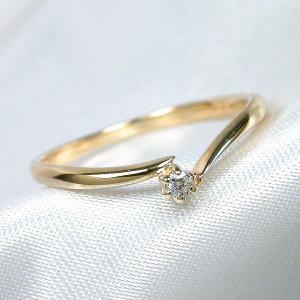 K10 レディース リング メンズ イエローゴールド ダイヤモンド 指輪 リング シンプル 男性 女性 ペア にも 大きいサイズ マリッジ 可愛い おしゃれ|j-fourm