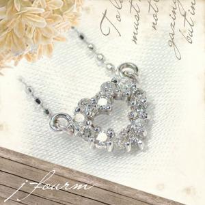 K14 ホワイトゴールド ダイヤモンド ネックレス レディース メンズ ペンダント トップ ネックレス シンプル 男性 女性 ペア にも 大きいサイズ 可愛い おしゃれ|j-fourm