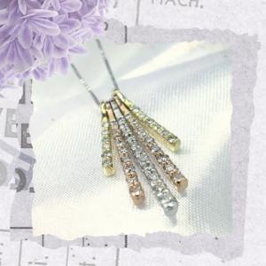 K18スリーカラー ダイヤモンド ネックレス ペンダント レディース メンズ トップ ネックレス シンプル 男性 女性 ペア にも 大きいサイズ 可愛い おしゃれ|j-fourm