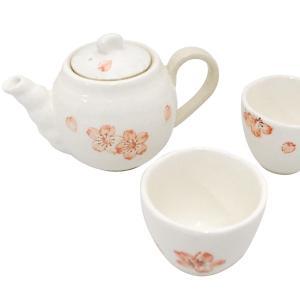 小粋庵 桜粉引 二人茶器揃(9-252-56)(16ten_1885-188) j-gift