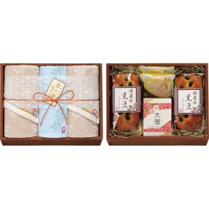 今治タオル&和菓子詰合せ(お名入れ)(IMW-50)(19sm_7048-49)|j-gift