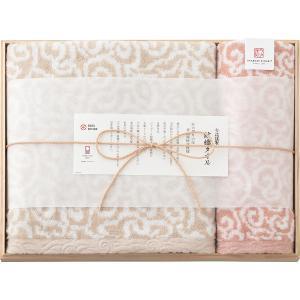 今治謹製 紋織タオル(木箱入)IM3035 バス1枚・ウォッシュタオル1枚(19ss_19-132)|j-gift